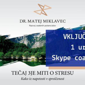 Matej Miklavec 3je miti o stresu + 1 ura coachinga